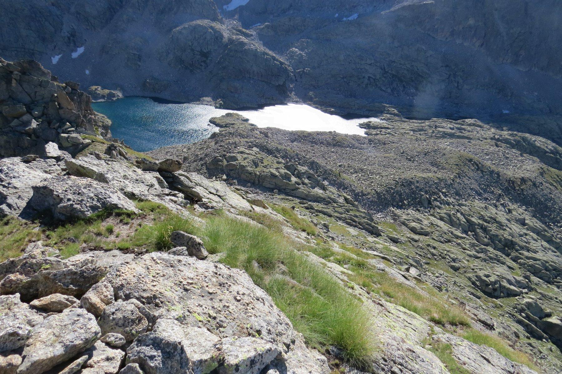 Sommità colletto adiacente la Punta di Motta e Lago della Motta