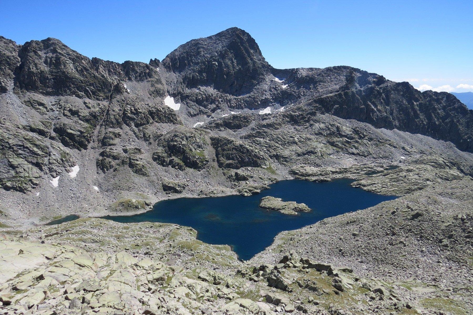 Vista dall'alto del Lago della Motta