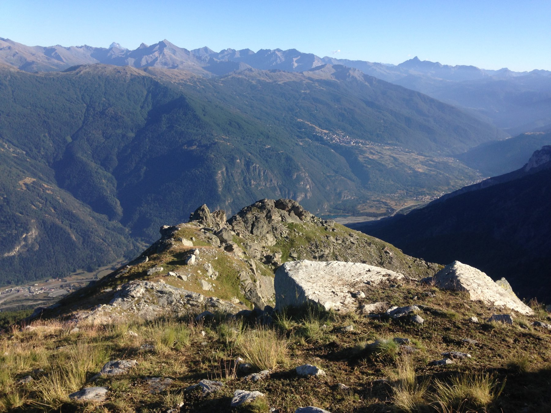alta valle dalla vetta
