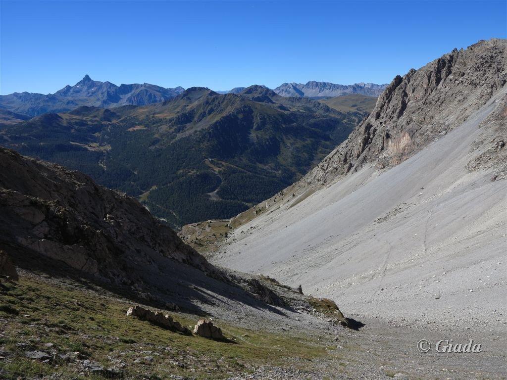Il percorso nel Petit Vallon visto dall'alto