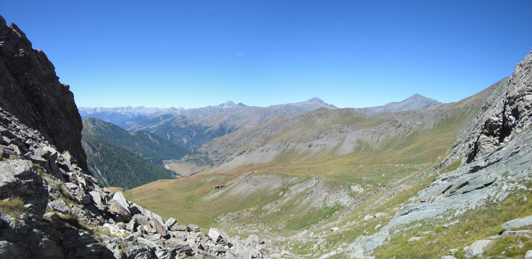 Panorama sul versante francese dal Colle Boucie