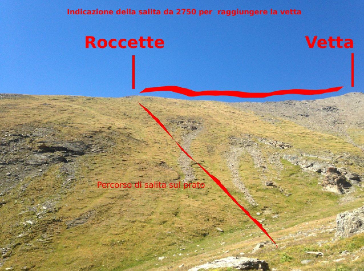 indicazione per il sentiero di cresta II