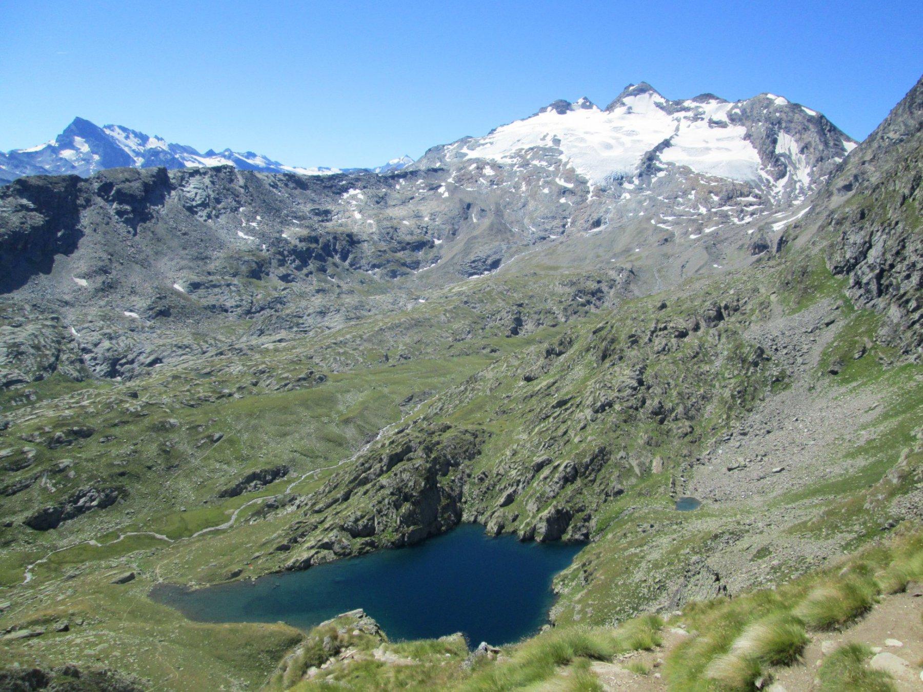 Lac du Fond ripreso in discesa