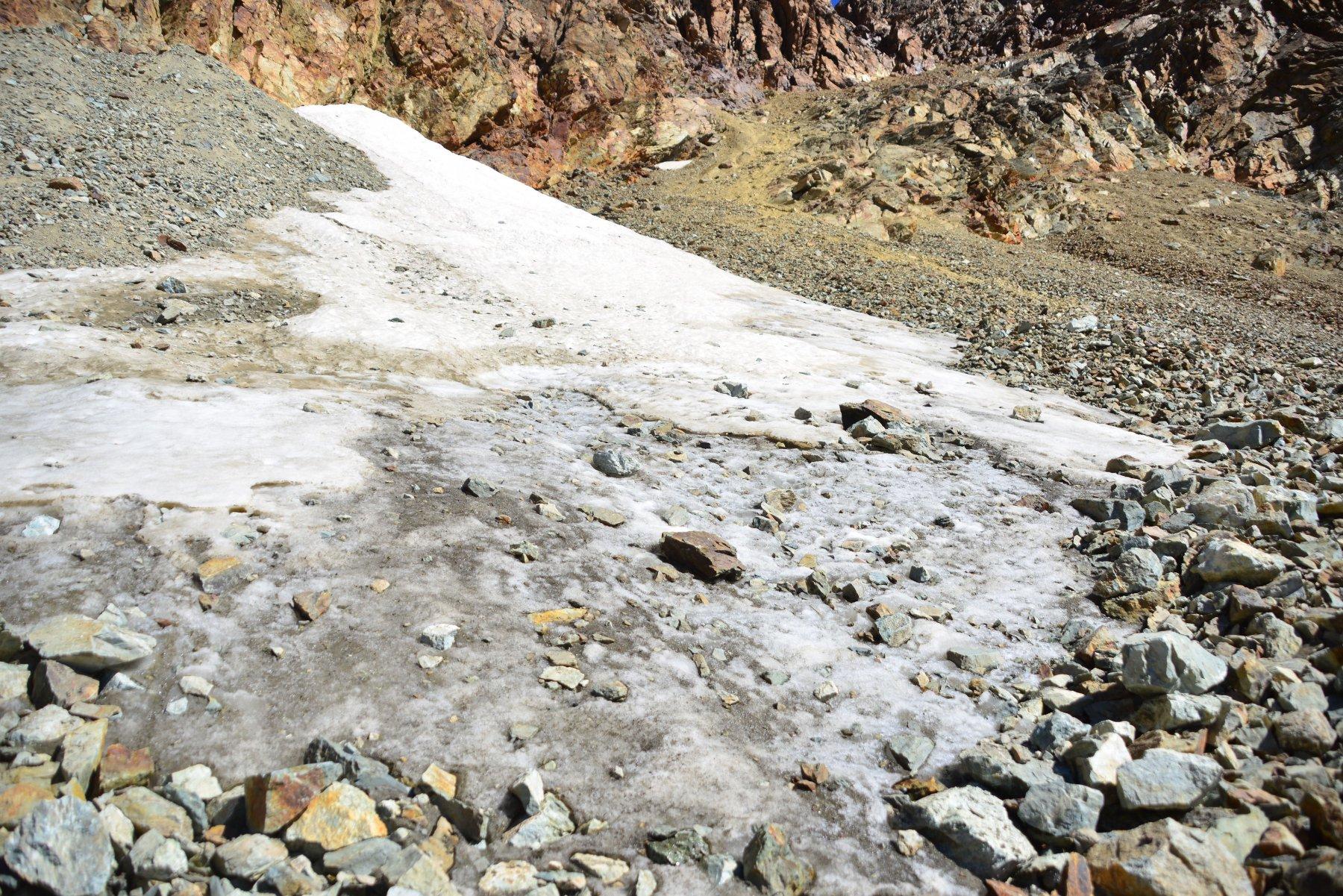 ghiacciaio Sella quasi sparito