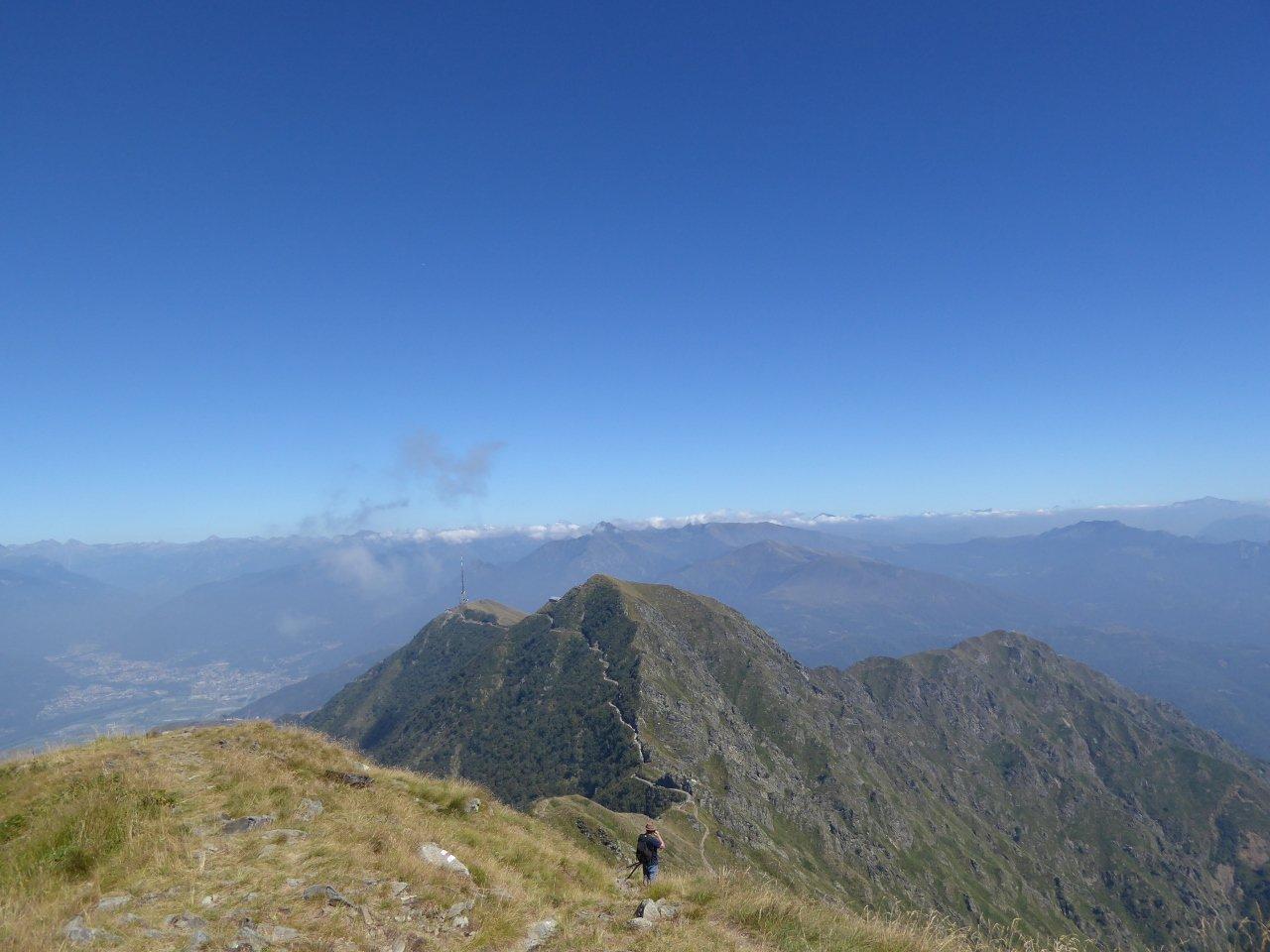 percorso dal monte Tamaro al rifugio monte Tamaro