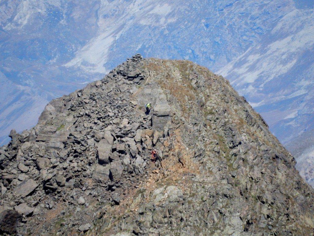 alpinisti in discesa dalla Las Blancias