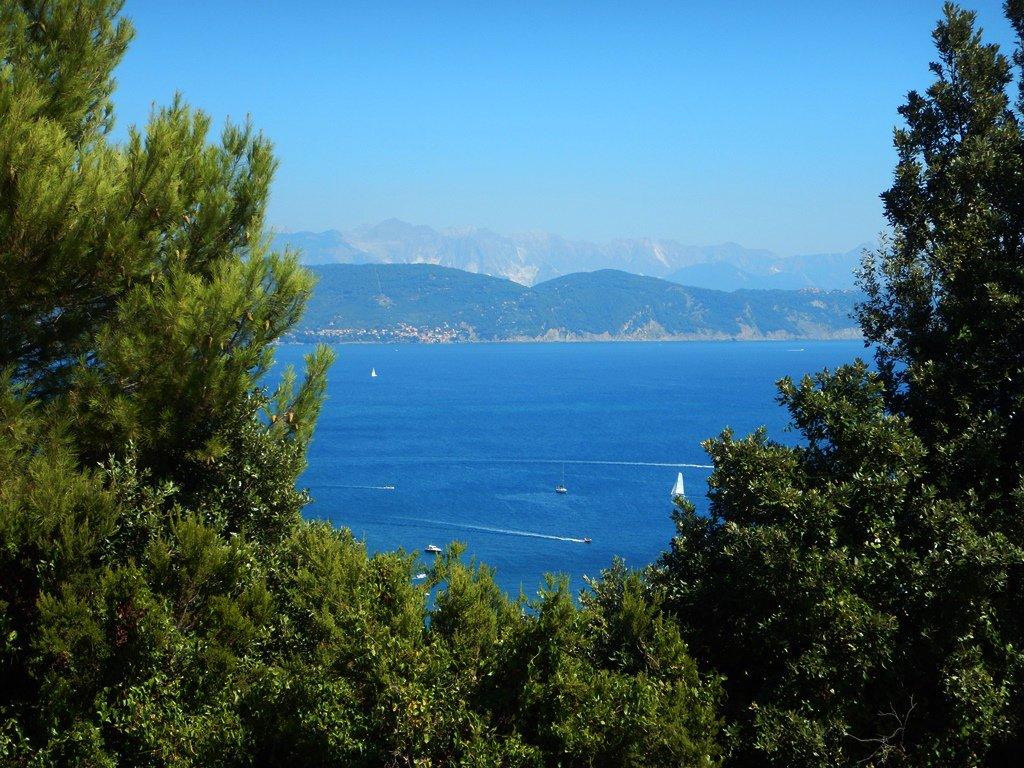 Vista su Lerici, Montemarcello e le Apuane