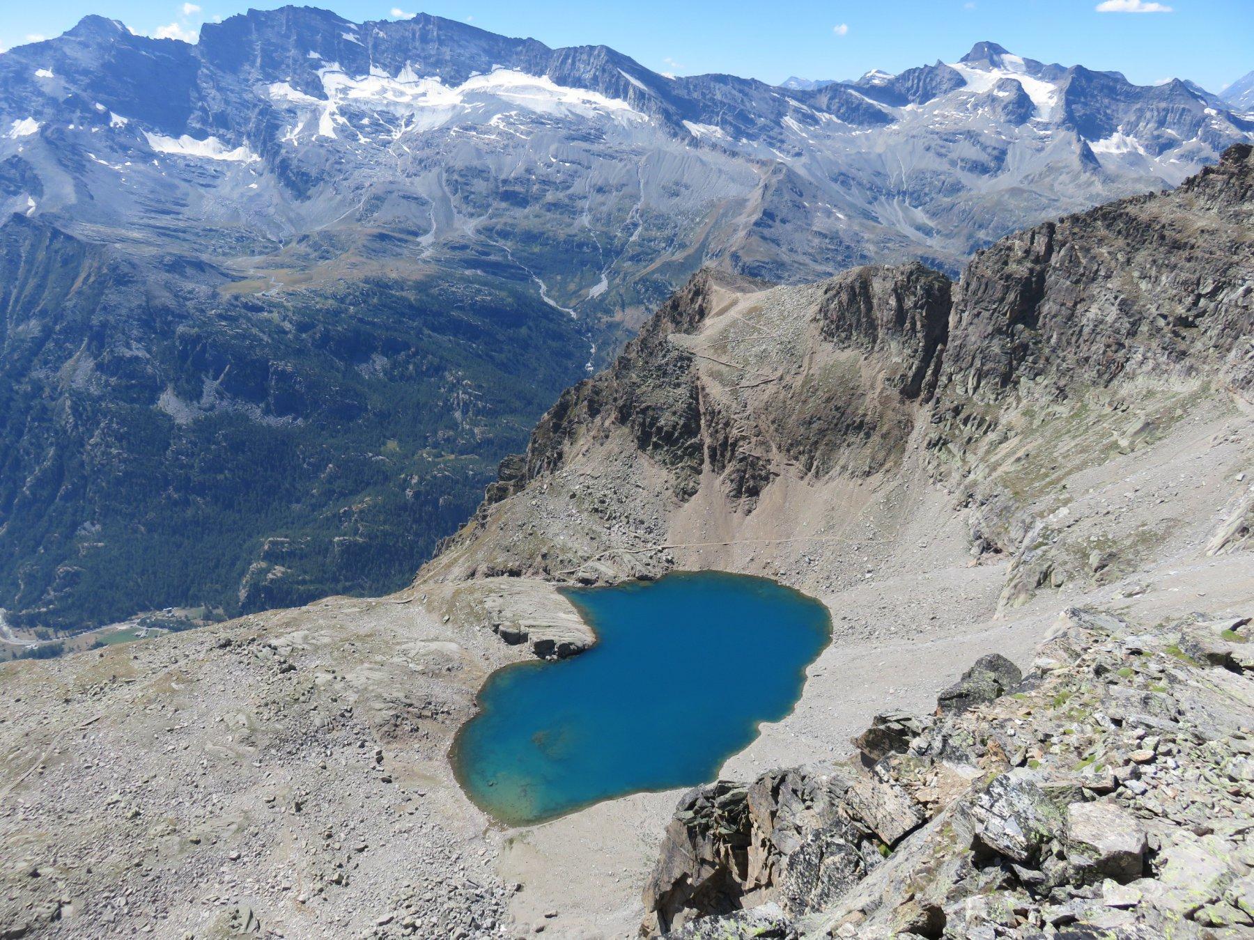 Vista dall'alto sul Lago Lillet