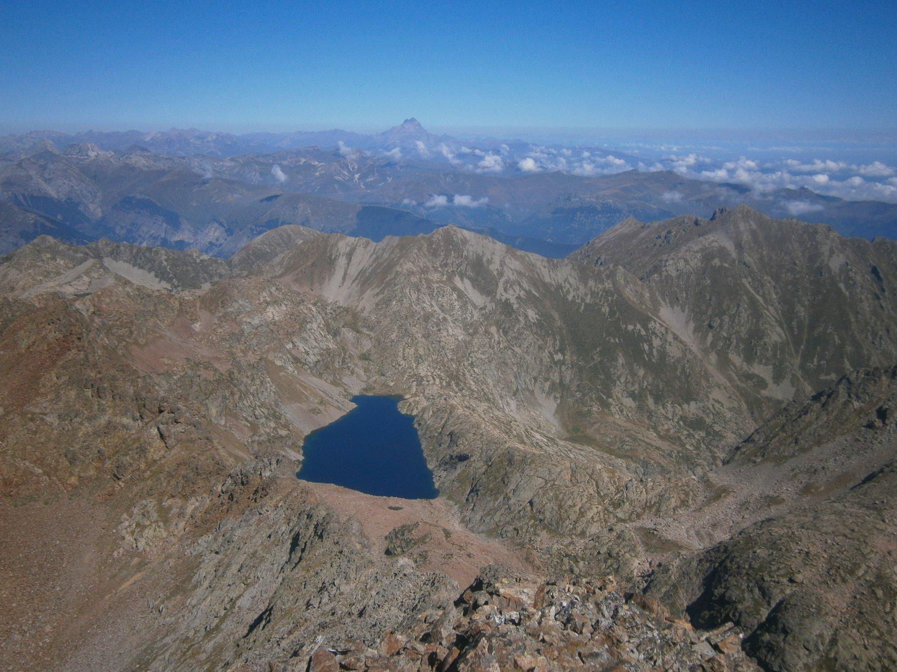 Lago soprano Sella / Monviso
