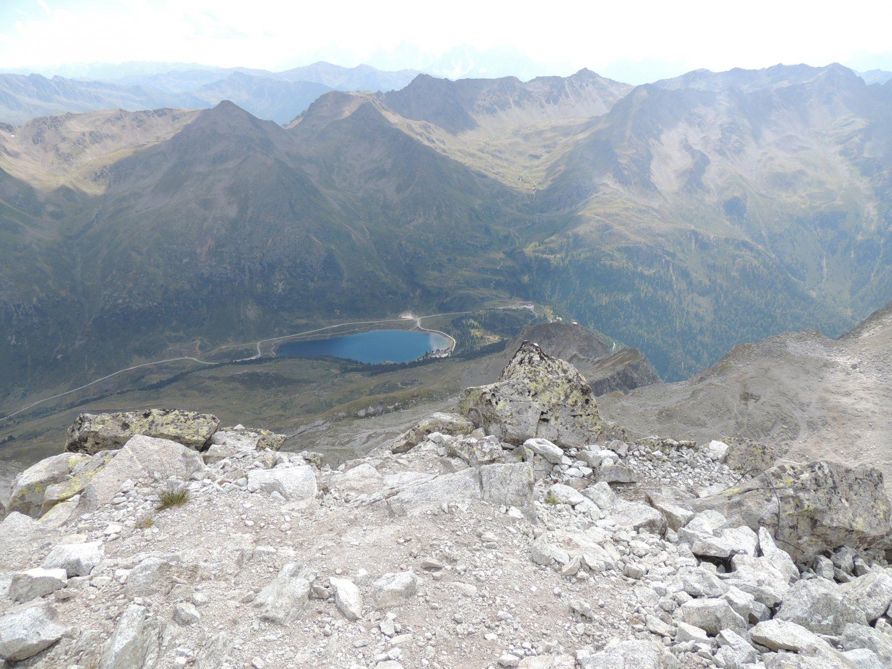 passo Stalle e lago dalla cima