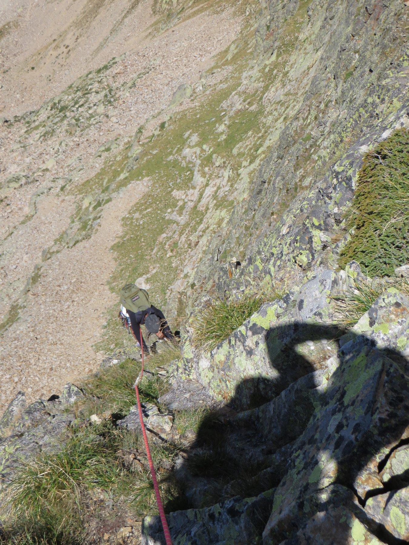 Ultimi metri per riguadagnare il filo di cresta