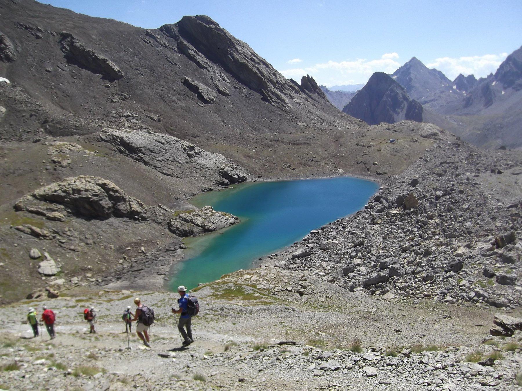 Lago del Vallonasso di Stroppia nella discesa