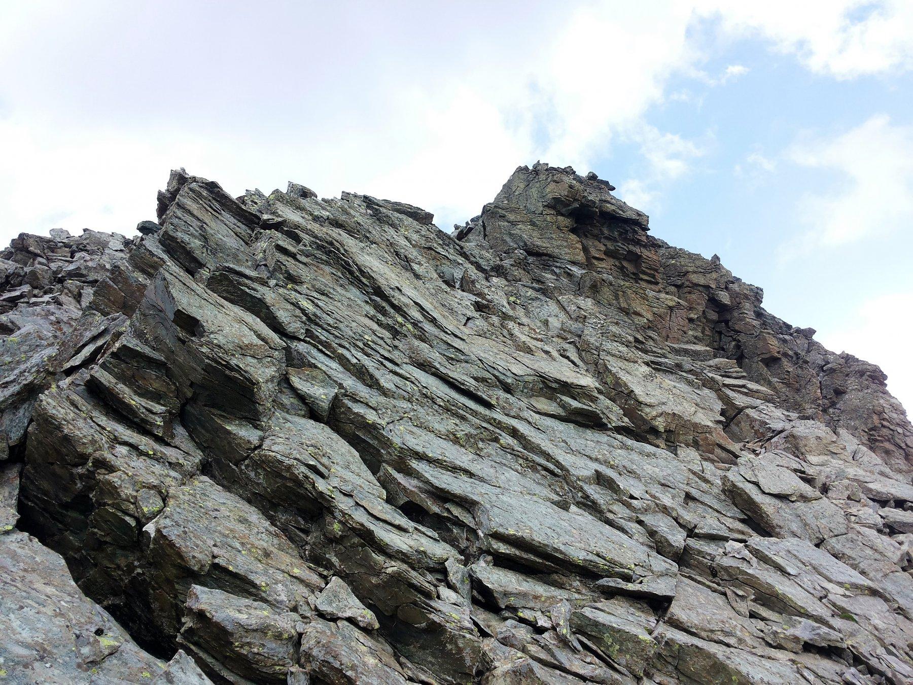 qualche passo di facile arrampicata