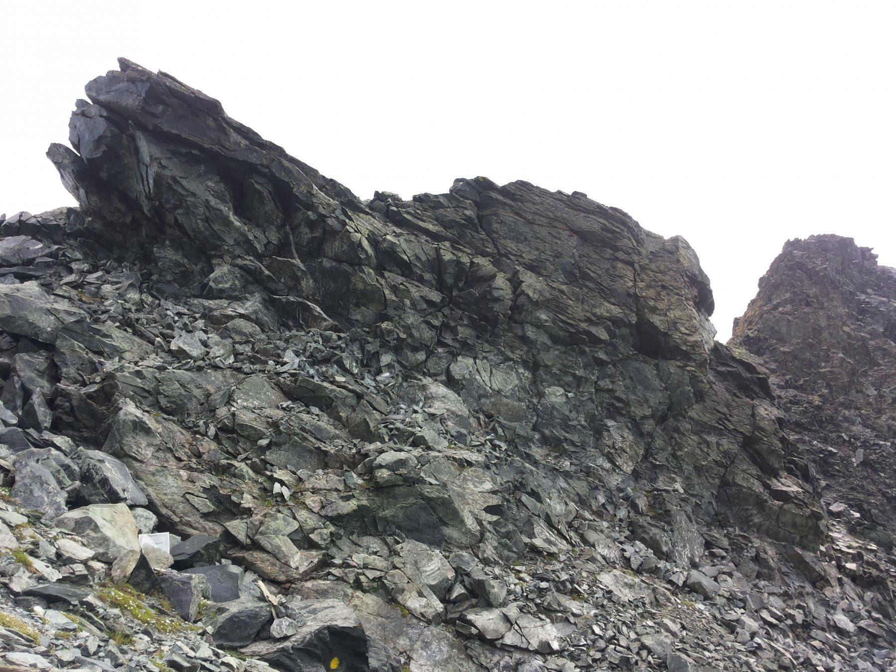 avvicinamento alla cresta