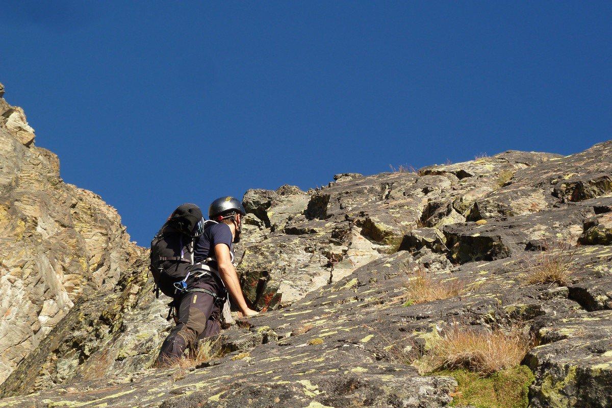 parte bassa.. roccia buona, è una scala