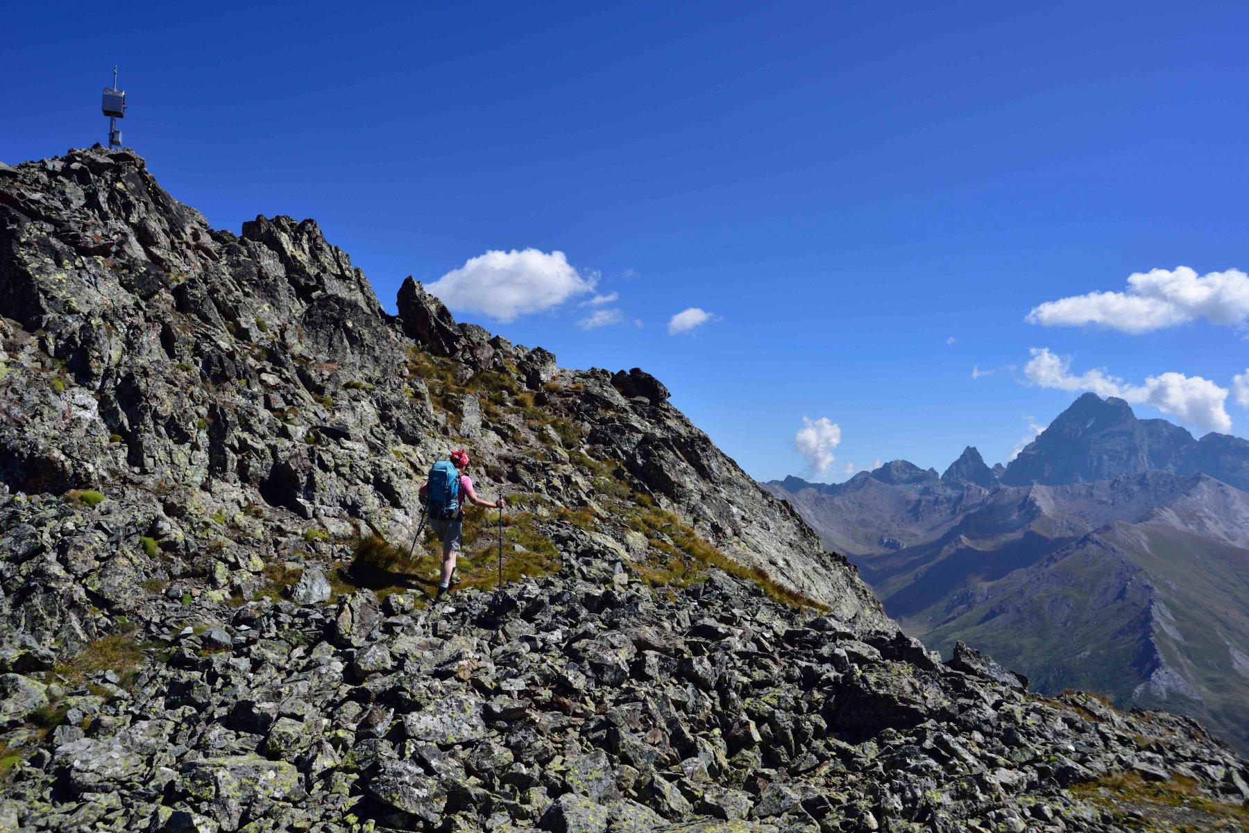 Ultimo tratto verso la vetta della Rocca del Nigro