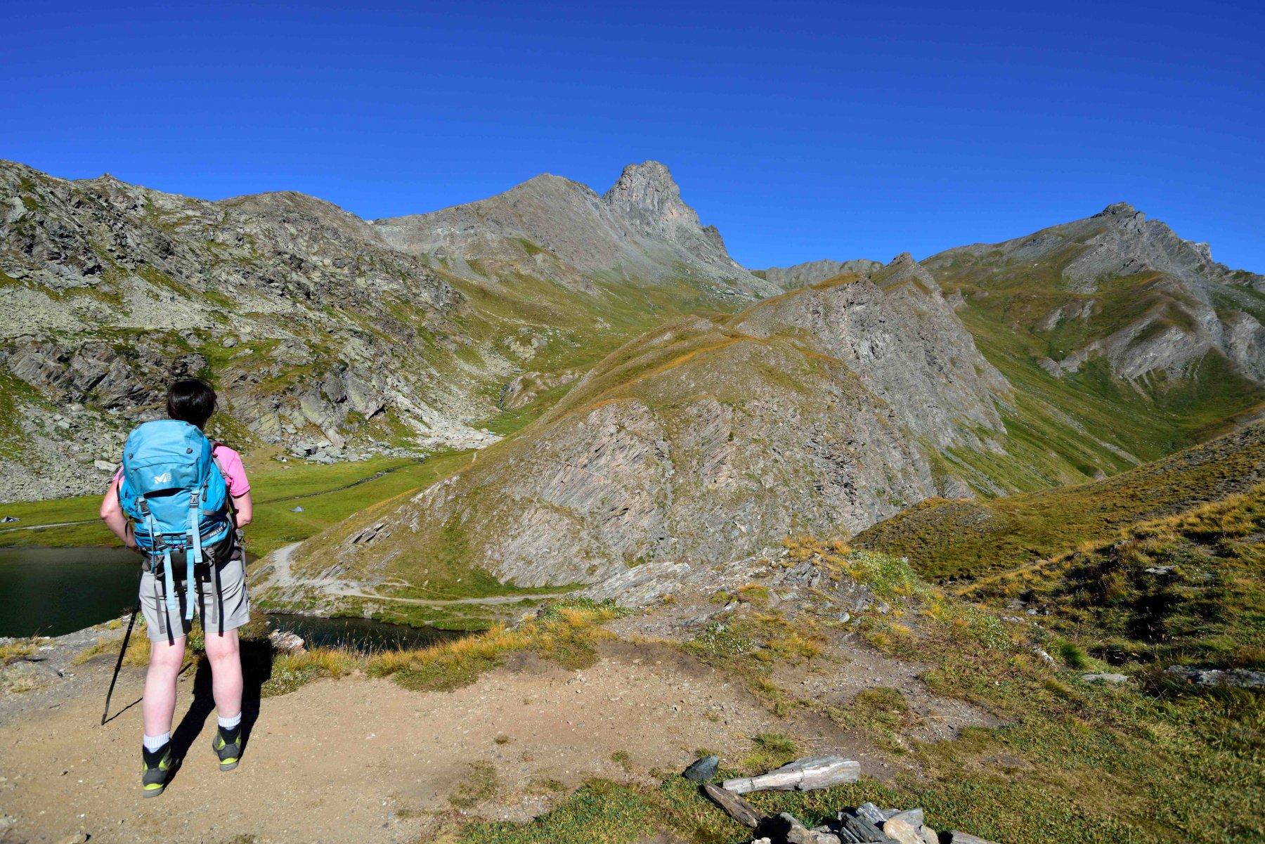 Dal Lago Bleu il Roc della Niera e la Rocca del Nigro a destra