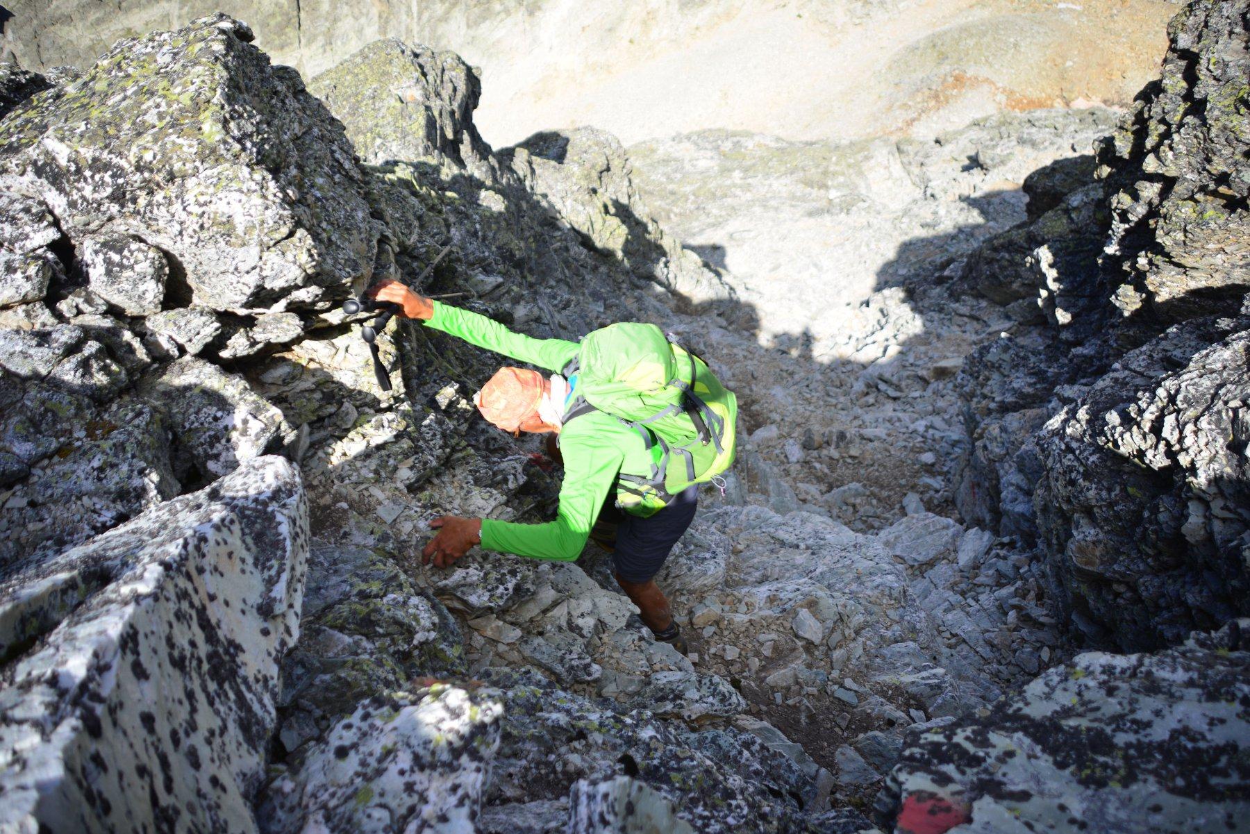 facile arrampicata nella prima parte