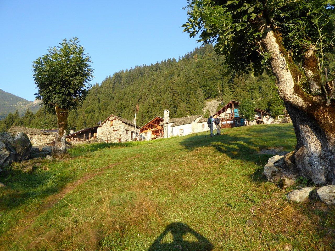 alpe Cangello (bella località) che si incontra sul percorso
