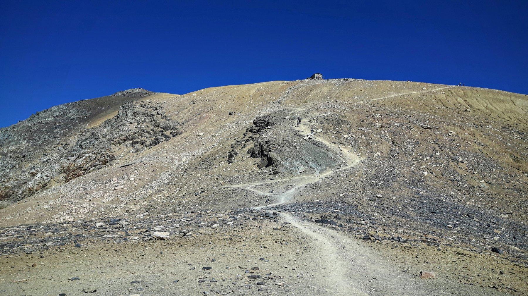 il tratto finale verso la cima
