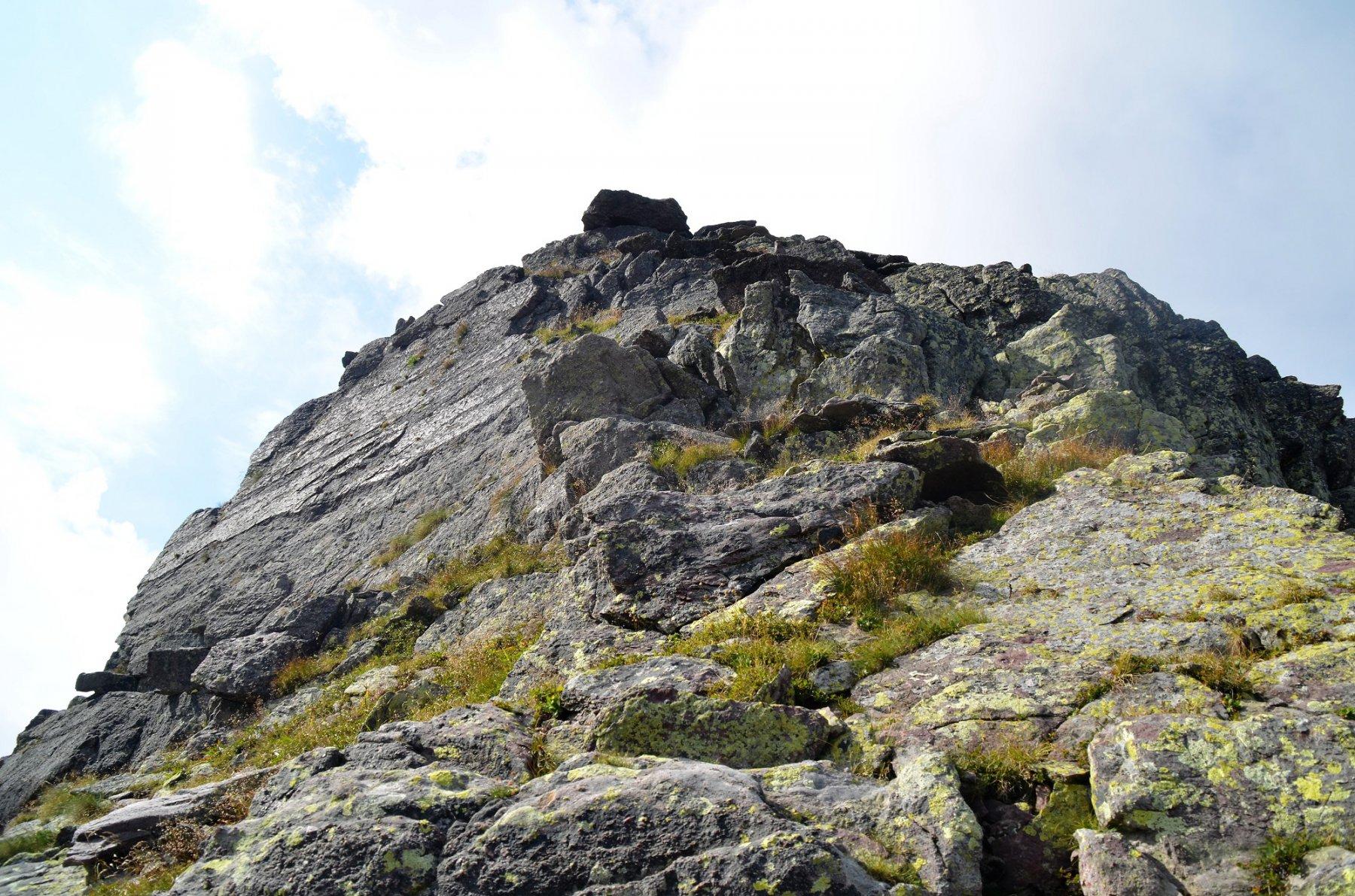 Verso la cima del Pizzo Camilla