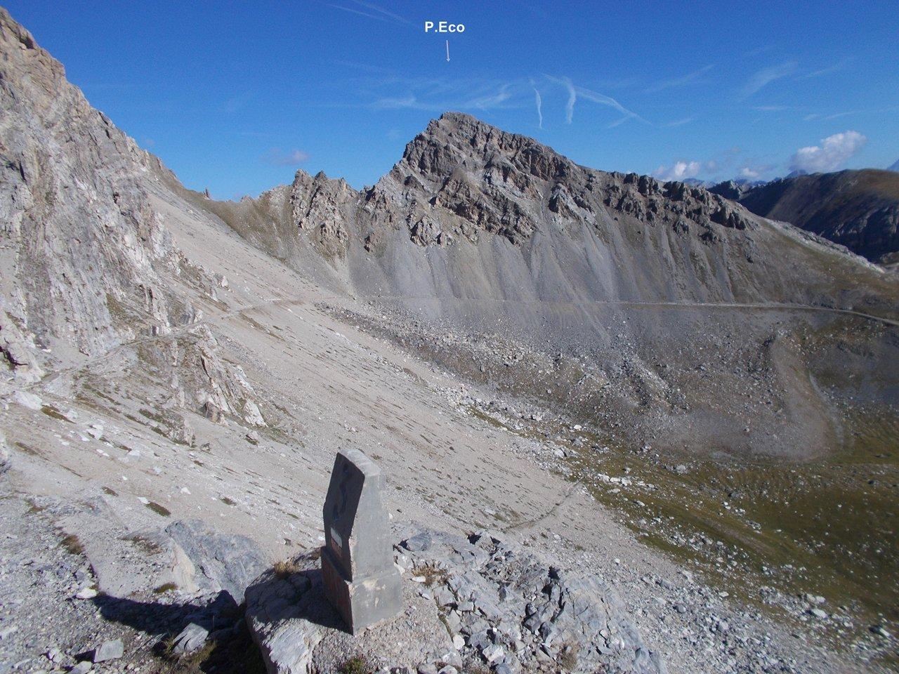 Punta Eco dal Passo di Rocca Brancia