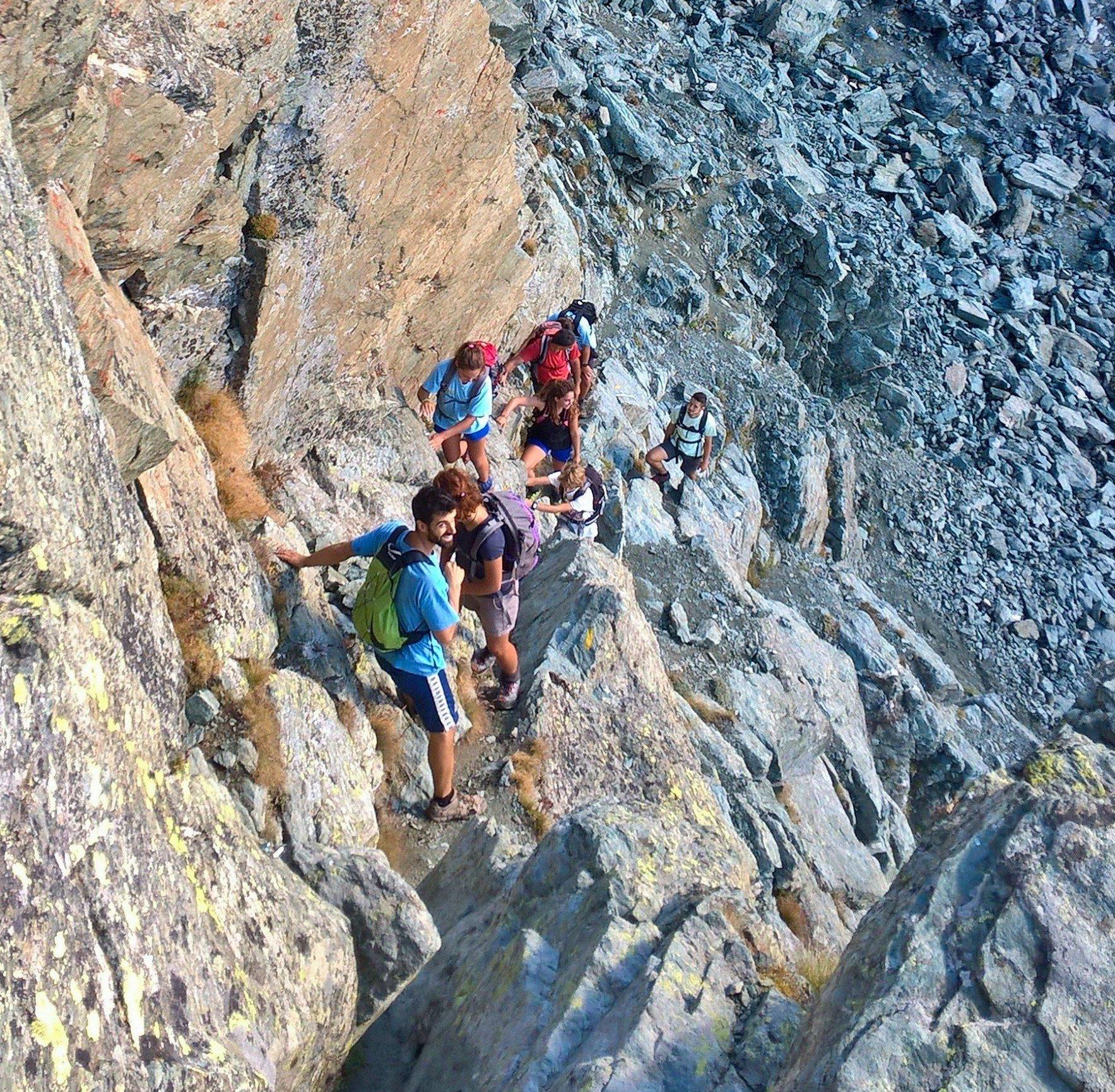 inizio della parte alpinistica