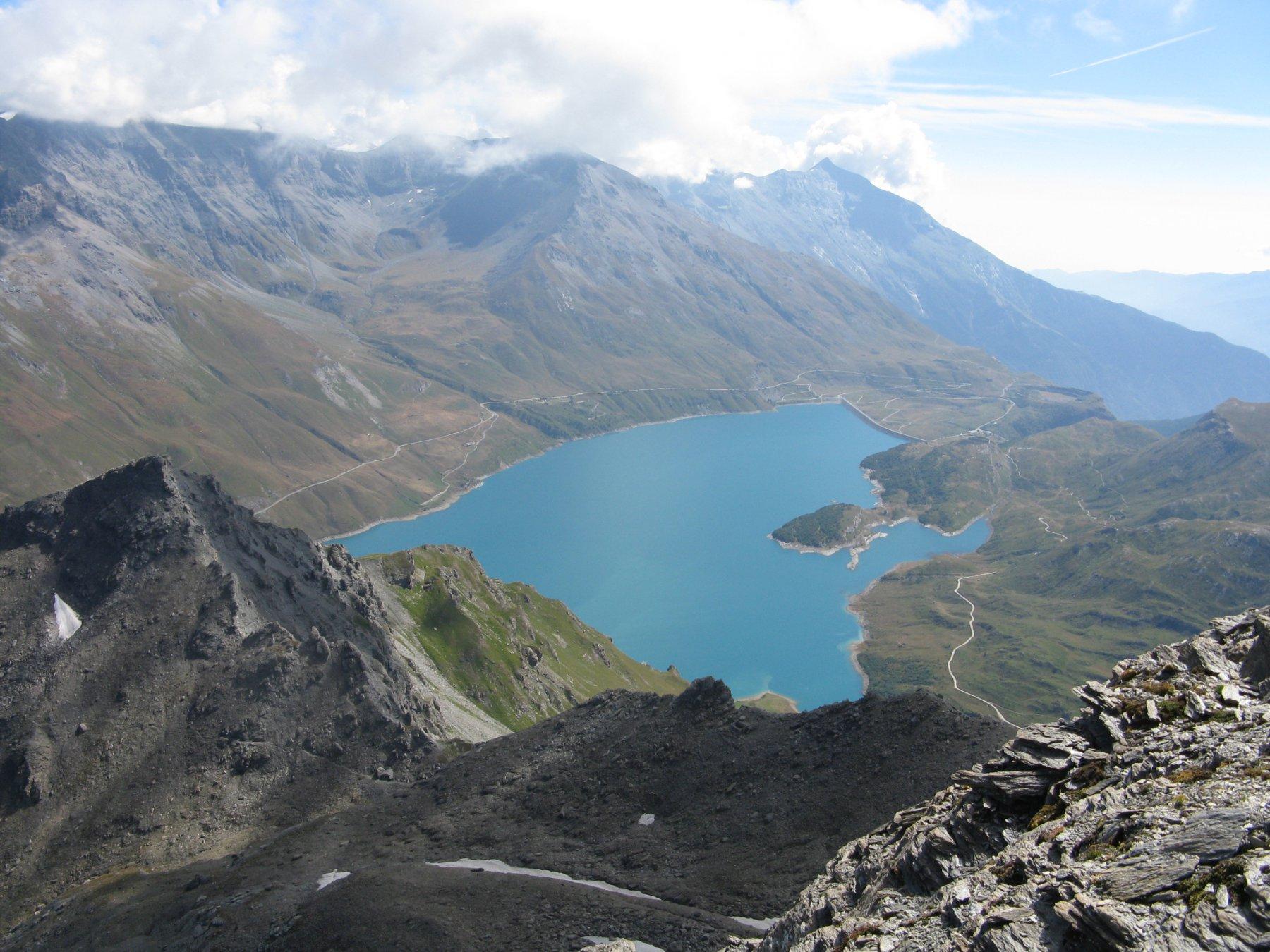 panorama sul Lago del Moncenisio
