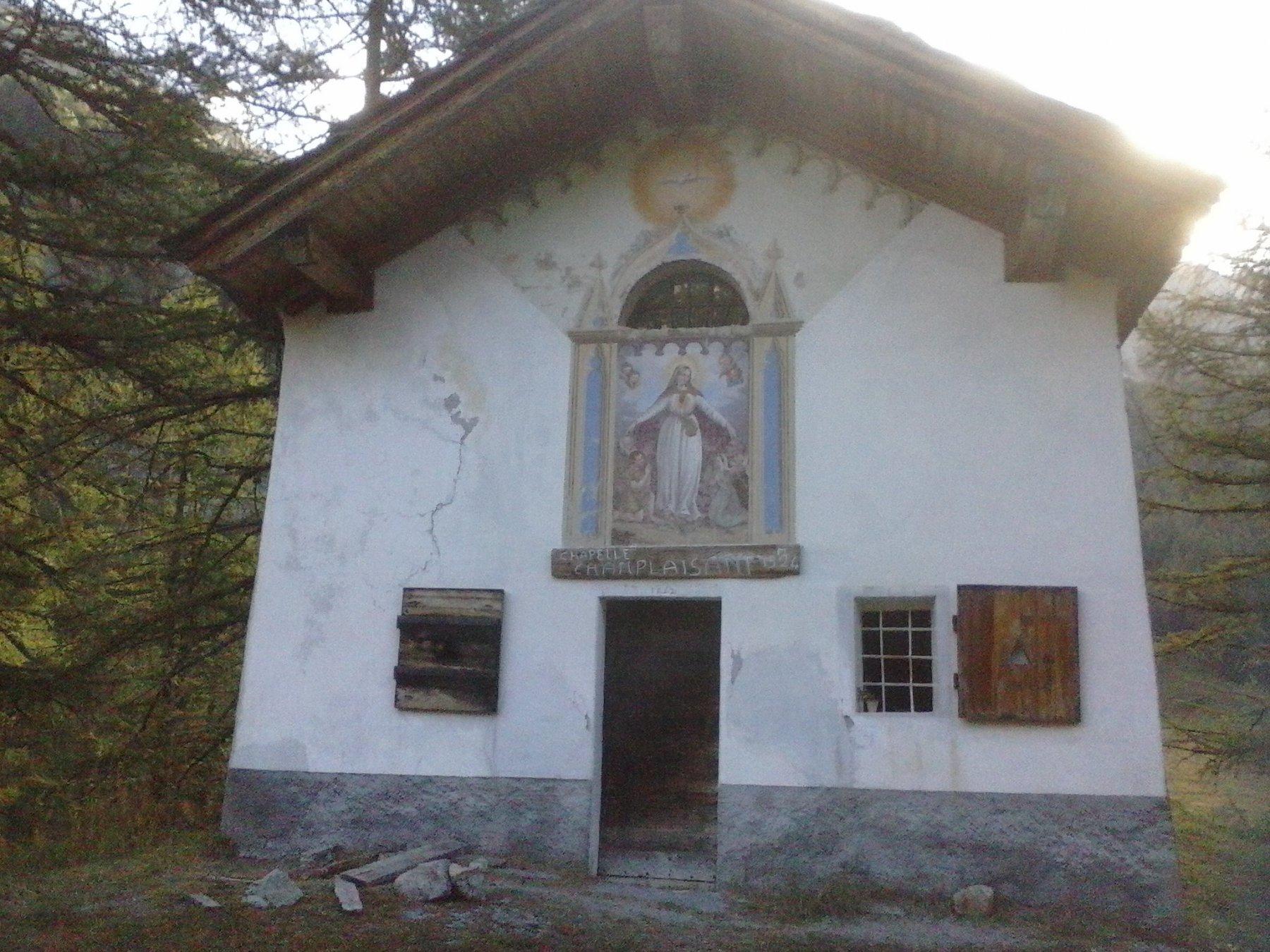 Larrivo al Santuario di Champlaisant...