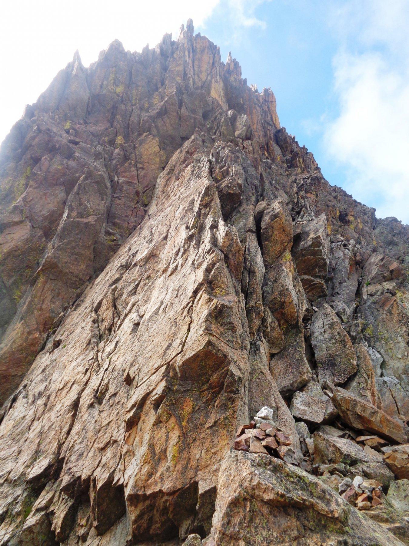 la cima dal Colle della Forchetta
