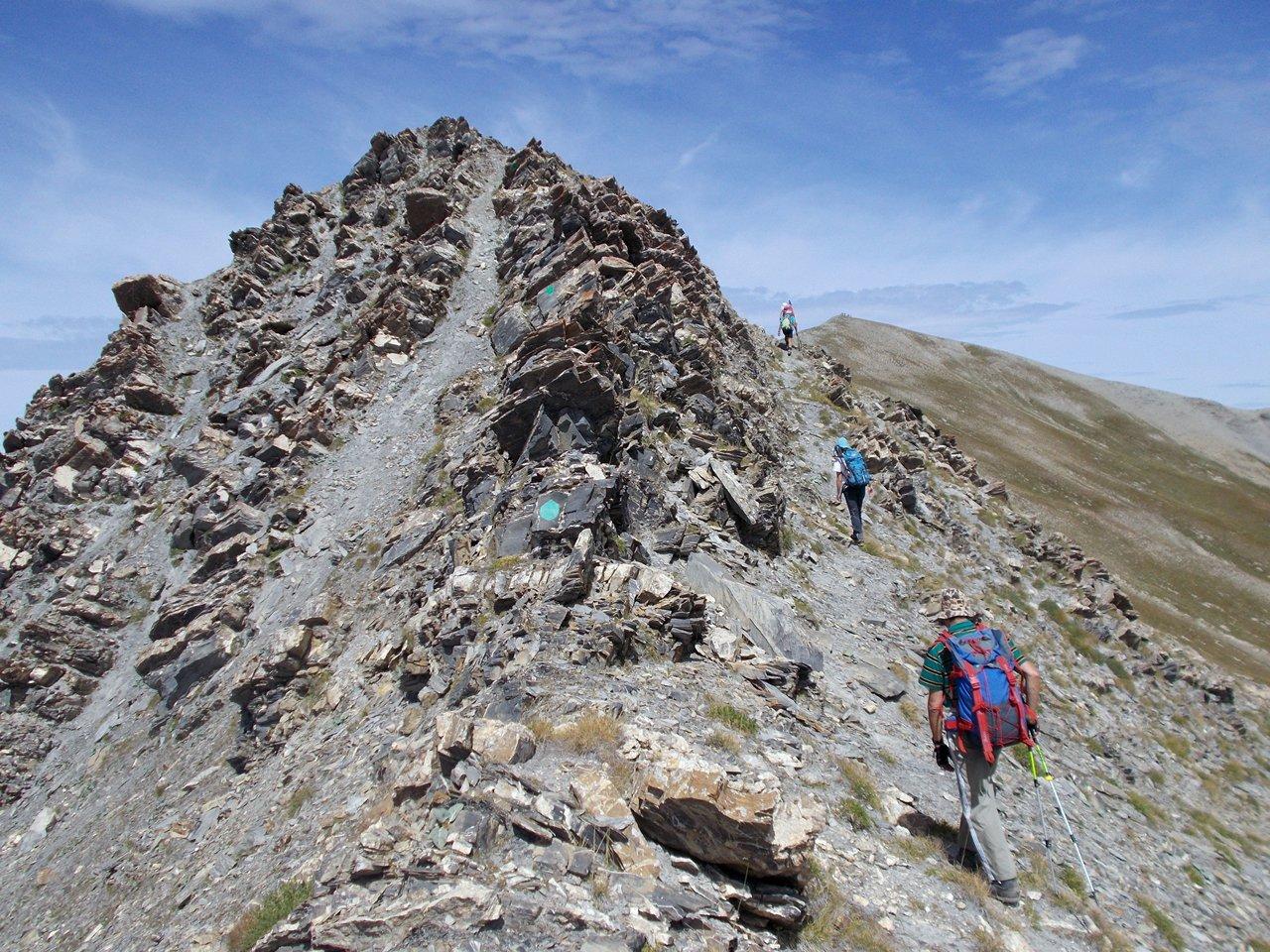 la cresta verso la Tete de Parassac
