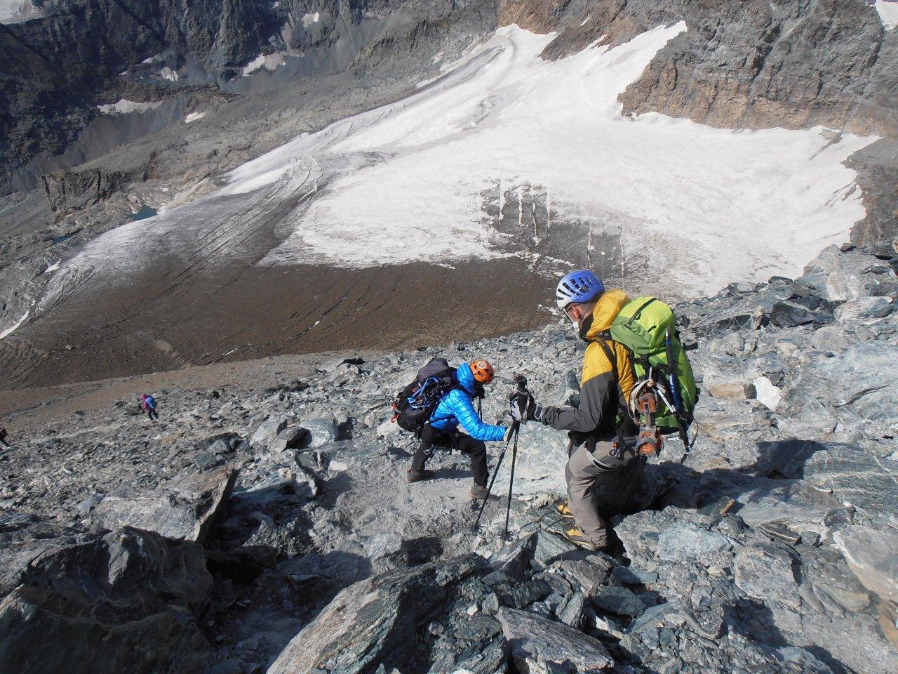 08 - a picco sul ghiacciaio della Ciamarella