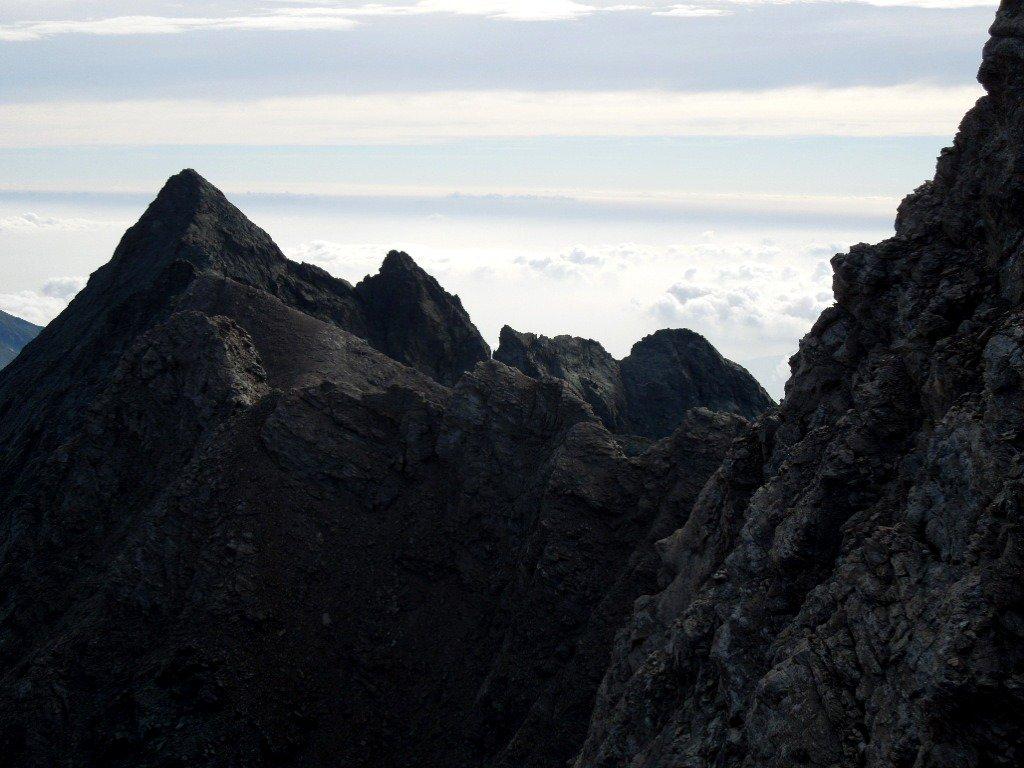 Scendendo verso il Col Sulè la cresta percorsa
