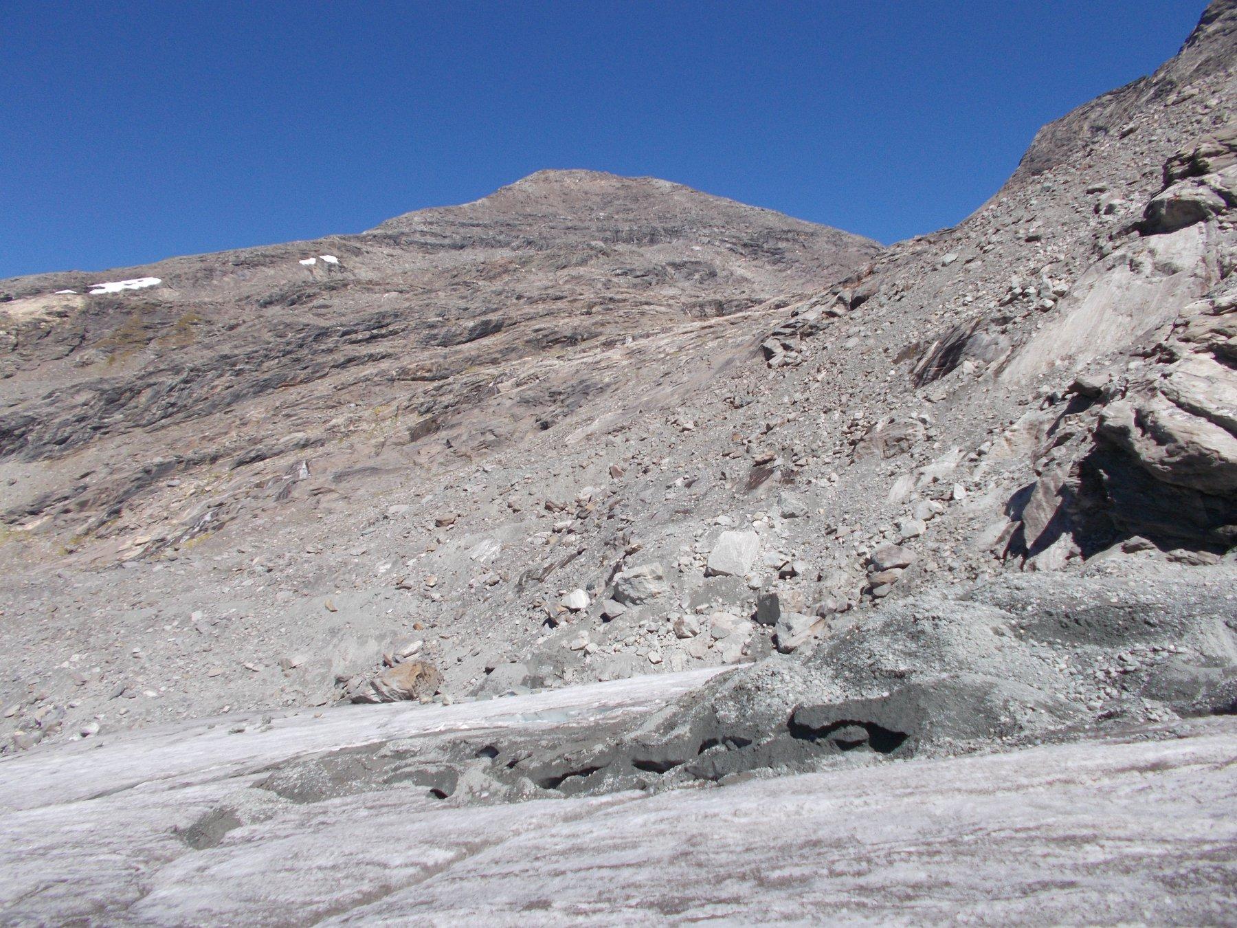 la Punta d'Arnas dal ghiacciaio Baounet..