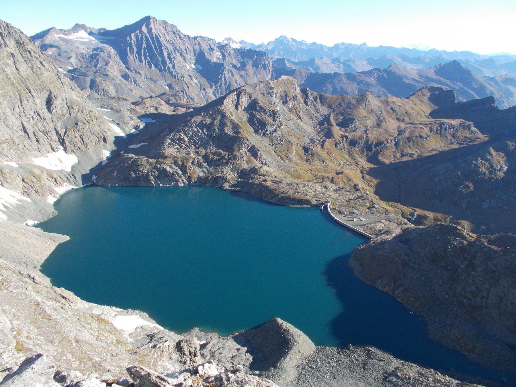 il lago della Rossa..dalla cresta est alla Croce Rossa..