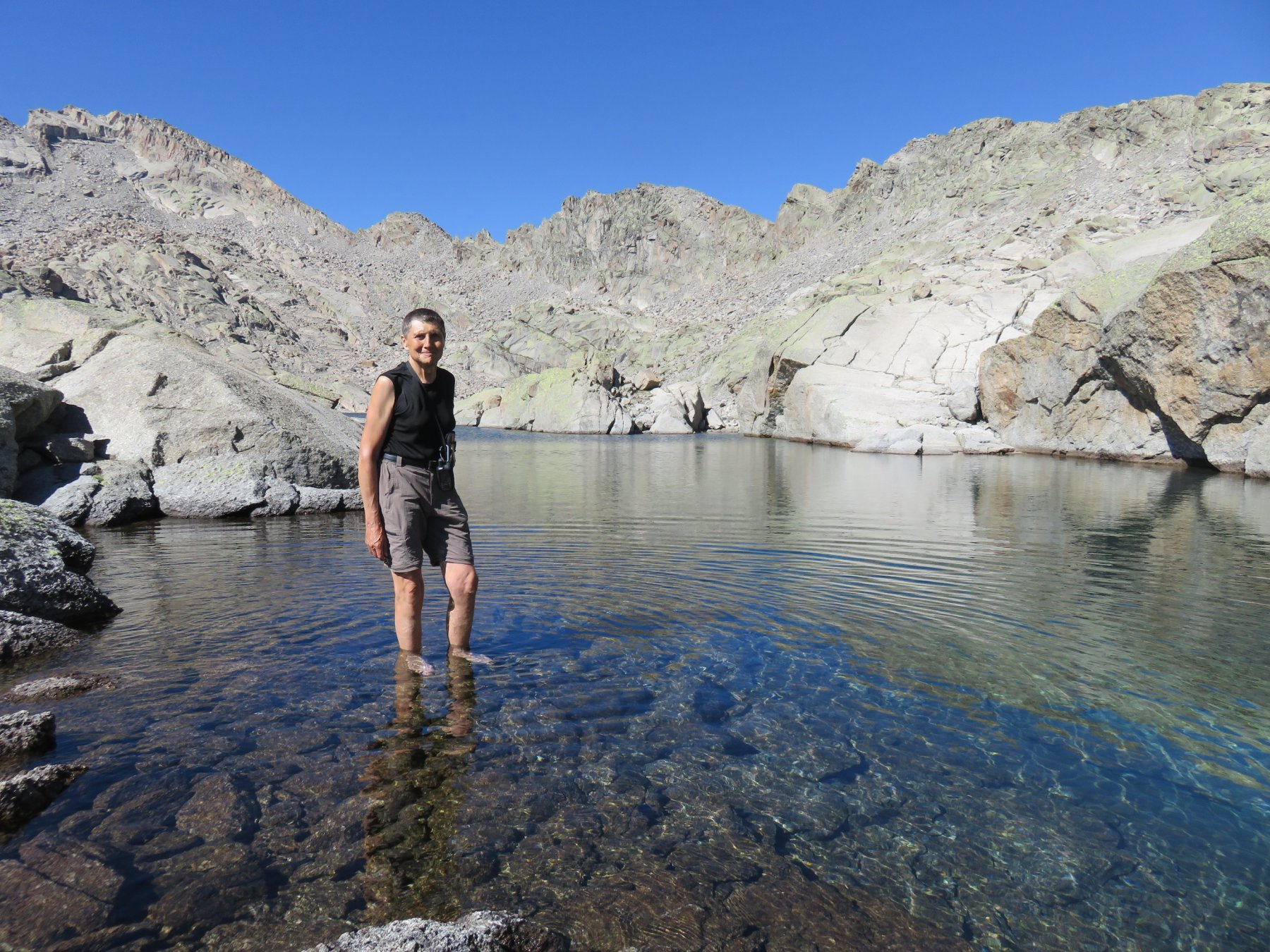 I piedi fanno male, l'acqua è fredda, ma la soddisfazione è tanta!