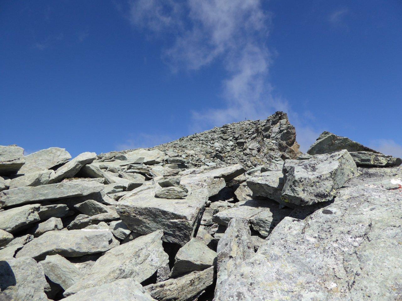 poco sotto la cima (sud) del Gran Tournalin