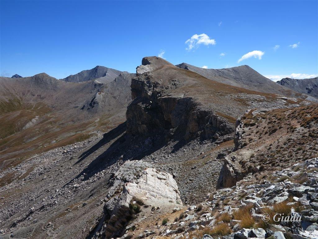 I monti Faraut e Bellino e la quota verso il colle di Bellino
