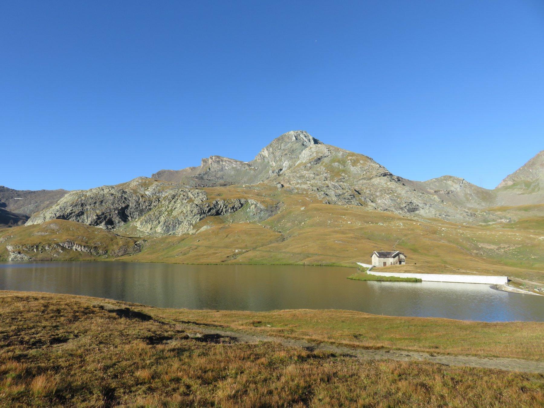 Lago Miserin, colle 2984 e Bec Costazza