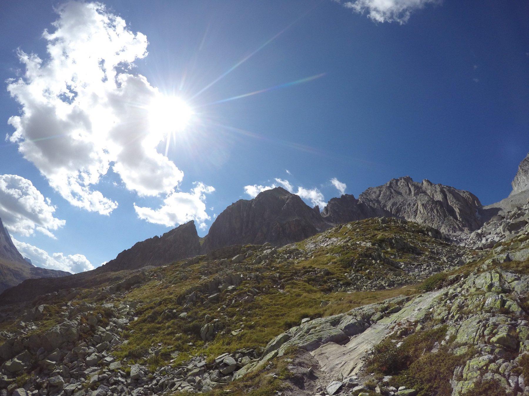 Tutta la cresta, vista dalla discesa dal Gerenpass, dopo l'ascesa!