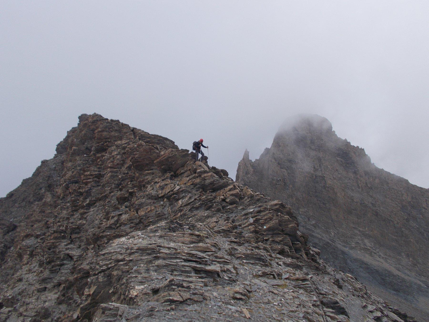 lasciaqndo il Pic d'Asti per il Mont Aiguillette..