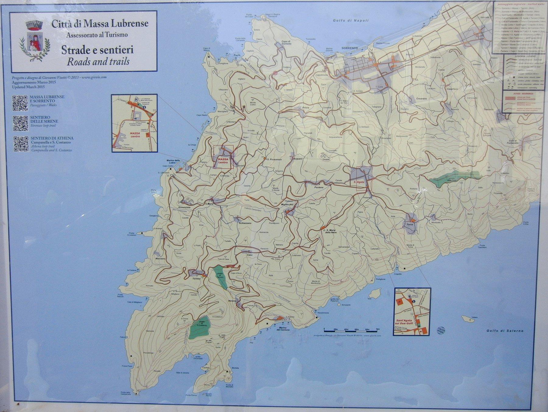 Cartina zona Massa Lubrense