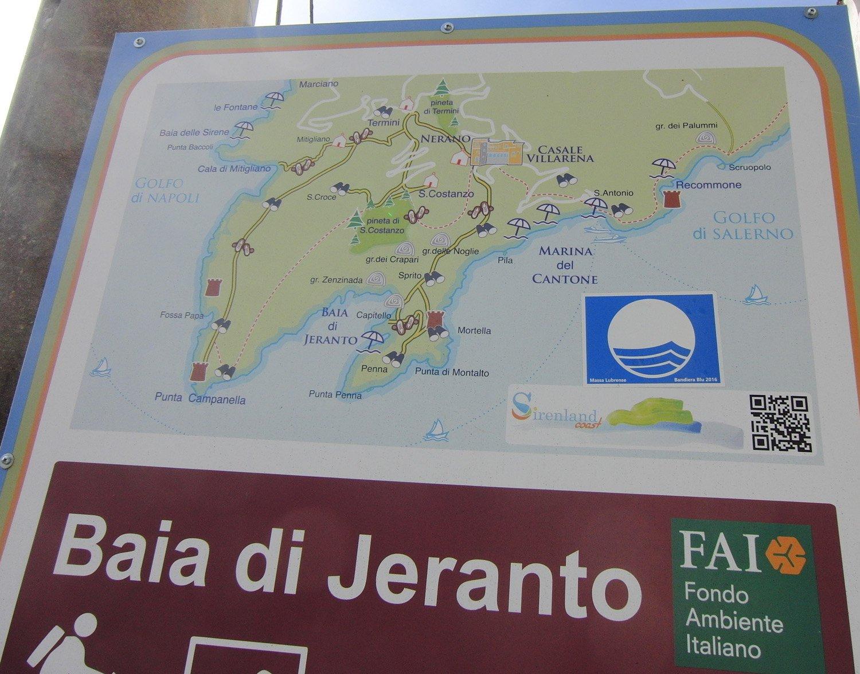 Cartina di Punta Campanella