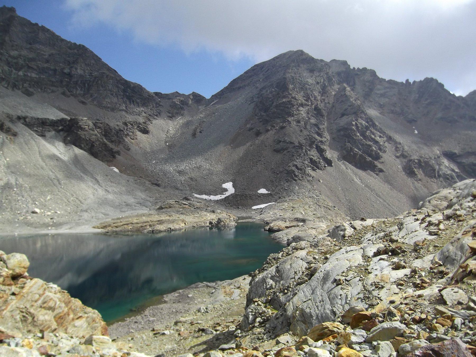 Gran Lago, canalone e Monte Rous.
