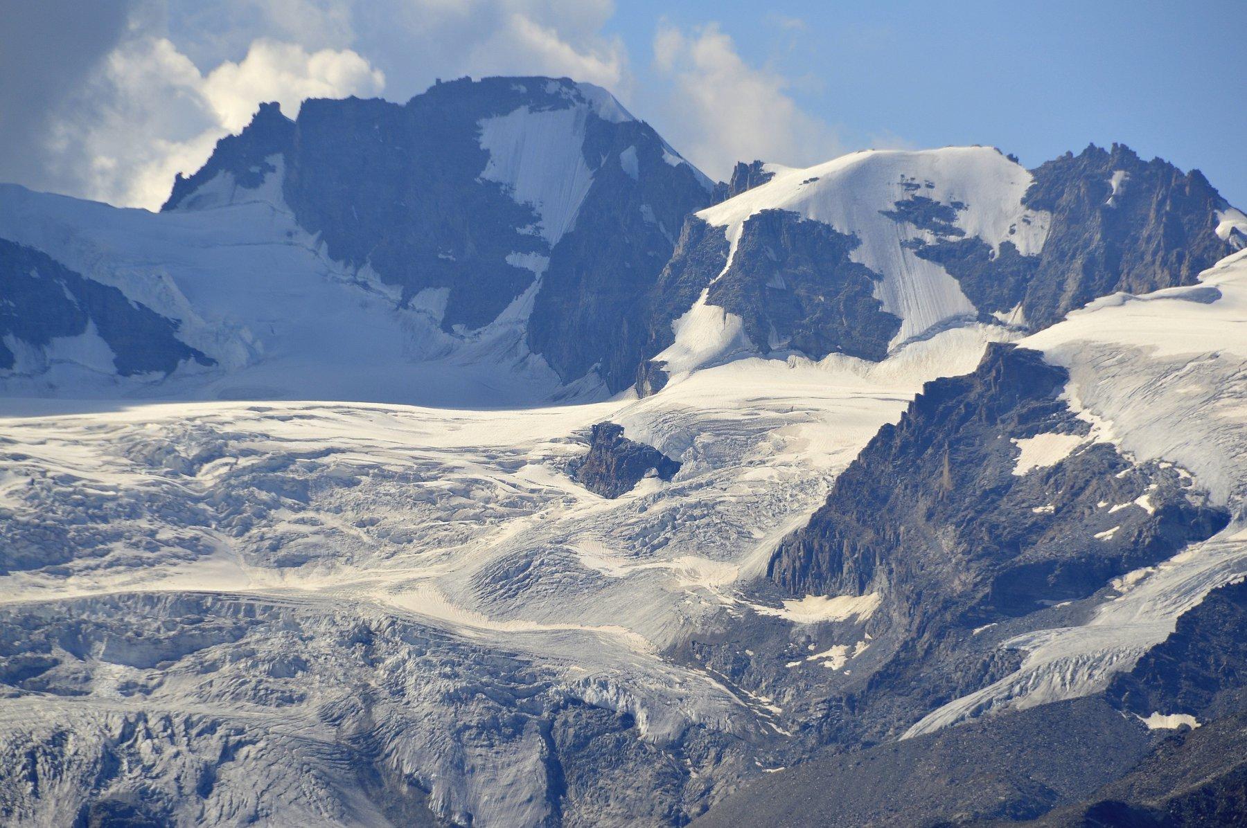 Zoomata sul ghiacciaio della Tribolazione