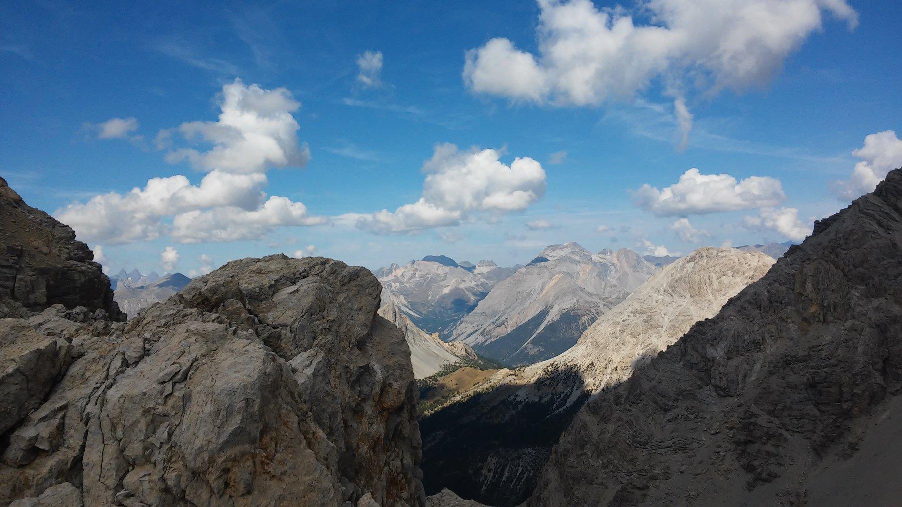 Vista sulla Valle Stretta con Thabor, Re Magi, Serous e massiccio della Bissorte