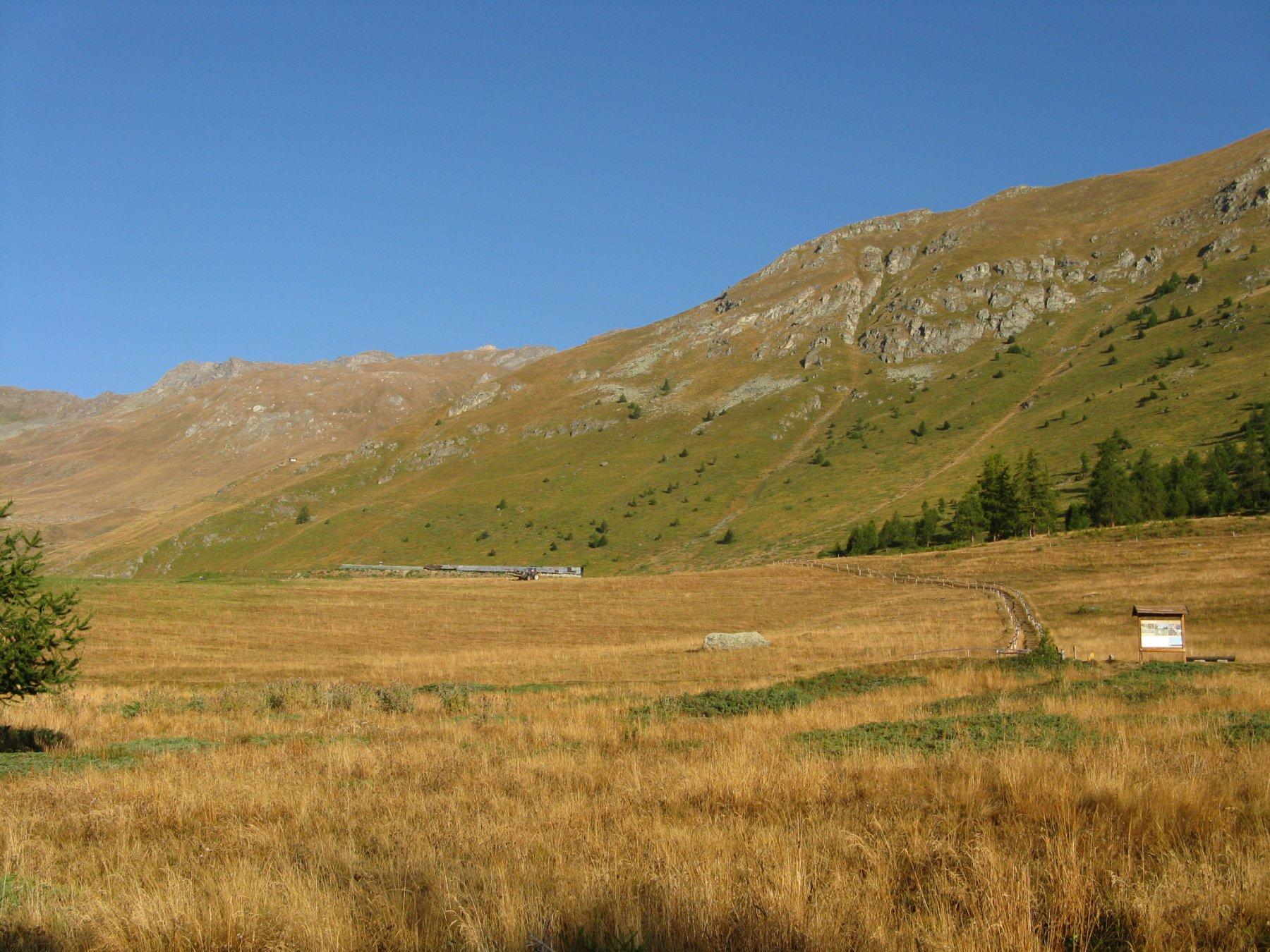 l'altopiano di Vachere poco dopo la partenza