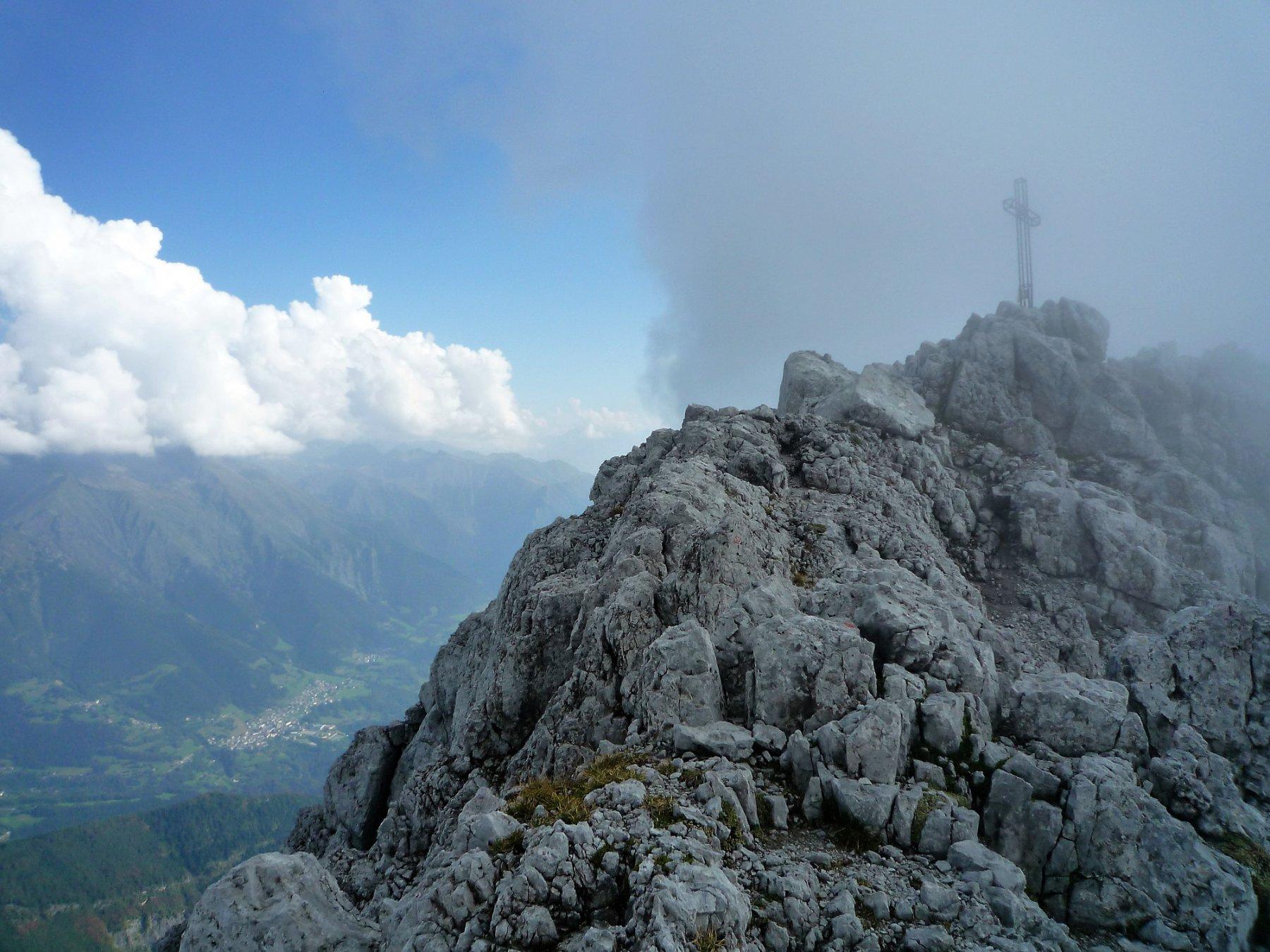 In vetta alla Presolana 2521 m