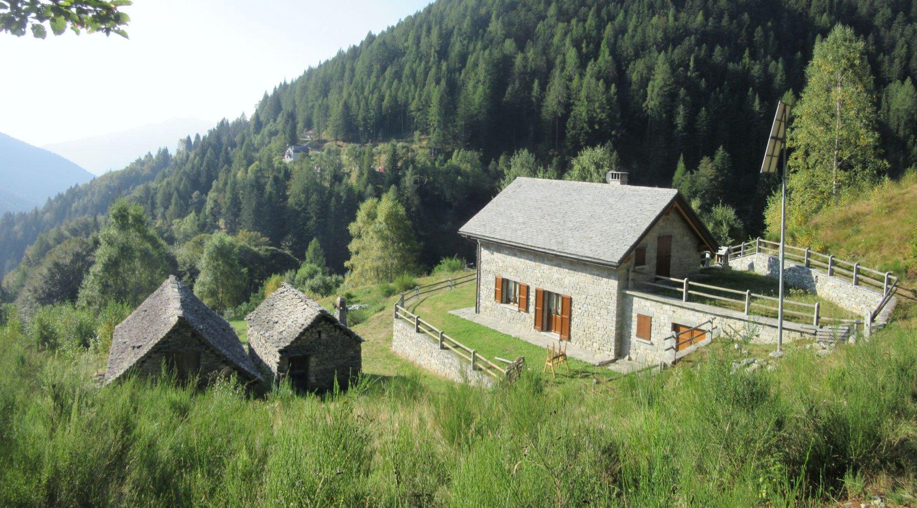 Alpe Cortino dove inizia il sentiero
