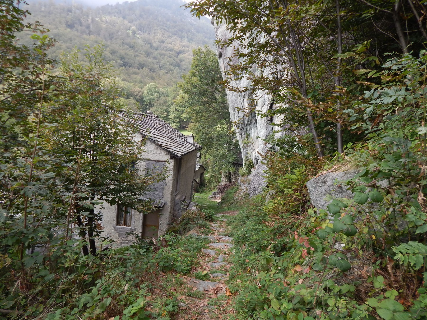 Sentiero che sale ai Tornetti